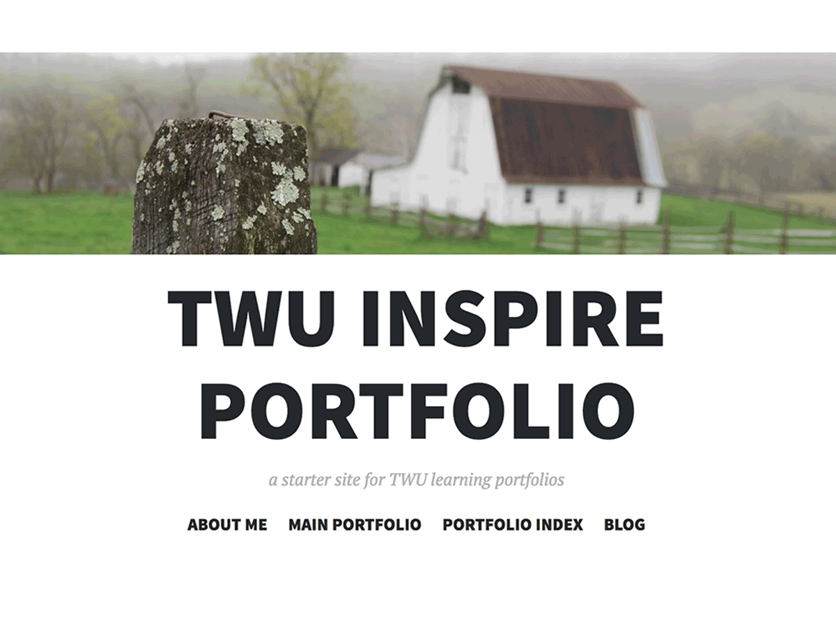 TWU Inspire Portfolio Theme