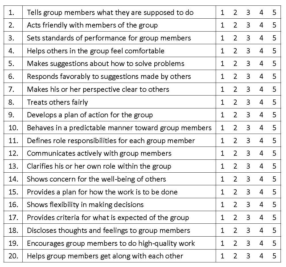 Unit 2 – Questionnaires – Leadership 500